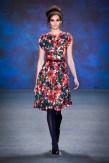 Lena Hoschek auf der Berliner Fashion Week mit der Kollektion 2015/2016 (Fotos Getty Images)