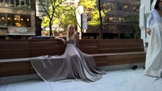 "Eva Poleschinski beim Shooting ihrer Kollektion ""My own Walls"" in New York - behind the scenes (Foto Hedi Grager)"