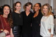 Christine Neubauer; Jeanette Hain; Eva Lutz; Barbara Becker; Ursula Karven - Mercedes Benz Fashion Week Berlin/ Show MINX by Eva Lutz (Foto SuccoMedia / Ralf Succo)