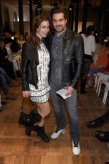 Raphael Vogt und seine Freundin Cathrin auf der Show von Marcel Ostertag (Photo by Clemens Bilan/Getty Images)