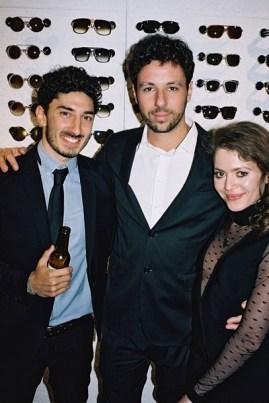 Hauptdarsteller Nadiv Molcho und Aye Beldi mit Co-Produzent Marcello Demner (Foto Diagonale/Pibernig)