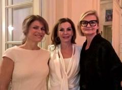 Sissy Knabl (Mitte) mit Freundin und Journalistin Hedi Grager (Foto Reinhard Sudy)