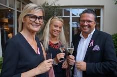 Journalistin Hedi Grager mit Beatrix Drennig und ihrem Mann Oliver Drennig (Foto Waltraud Fischer)