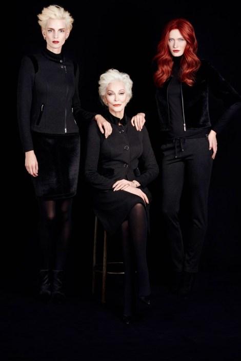 Iris Strubegger, Carmen Dell'Orefice und Ilva Heitmann für die neue AIRFIELD Kampagne (Foto Kristian Schuller)