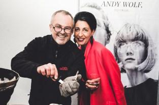 Albert Kriwetz und Sabine Friedl, Nägele&Strubell - Ein Jahr BrillenQuartier in Graz (Foto lupispuma)