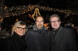 """Außenminister Kurz lud zu """"Maroni und Punsch"""": Hedi Grager, Jürgen Roth und LR Christopher Drexler (Foto Reinhard Sudy)"""