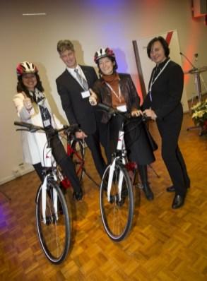 Mit den TU-Rädern rasch unterwegs - TU Graz eröffnet ihr erstes alumni eXtended Chapter an der ETH Zürich (Foto alumniTUGraz 1887)