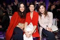 Bettina Zimmermann, Jasmin Gerat and Aylin Tezel bei der Marc Cain Fashion Show (Photo by Franziska Krug/Getty Images)