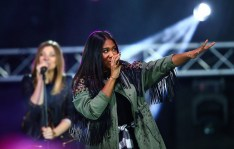 "Special Olympics World Winter Games 2017: Rose May Alaba performte den Coca-Cola Unified Song ""Can you feel it"" (Foto GEPA pictures/Special Olympics)"