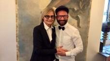 Journalistin und Bloggerin Hedi Grager mit Hair-Stylis Dieter Ferschinger (Foto Sylivia Baumhackl)