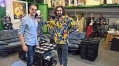 Christian Potisk und George Surab vom BrillenQuartier - Werner Stadler eröffnete sein neues Atelier in Graz (Foto Hedi Grager)
