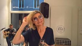 Jornalistin und Bloggerin Hedi Grager mit DITA Brille - Luxury Gentlemen Night im Grazer BrillenQuartier (Foto Reinhard Sudy)