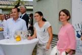 Werner Stadler eröffnete sein neues Atelier in Graz - auch Auto-Lady Elisabeth Wechtitsch war dabei (Foto Manfred Lach)