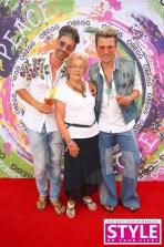 Michael Lameraner und Adi Weiss mit Adi's Mama - OBEGG Sommerfest von Adi Weiss und Michael Lameraner (Foto Moni Fellner)