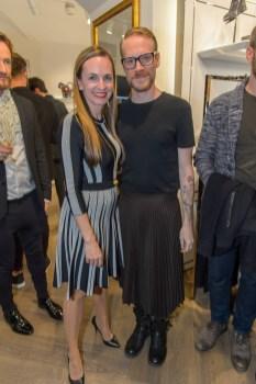 Karl Lagerfeld Store Opening in Wien: Maria Großbauer und Thomas Kirchgrabver (Foto Andreas Tischler)