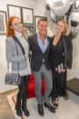 Karl Lagerfeld Store Opening in Wien: Pier Paolo Righi mit Barbara Meyer und Victoria Swarovsky (Foto Andreas Tischler)