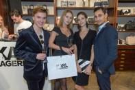 Karl Lagerfeld Store Opening in Wien:: Yuri Revich mit Maria, Maria Yakovleva und Richard Szabo (Foto Andreas Tischler)