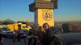 Die SOKO Donau beim Dreh für die 13. Staffel am Grazer Schlossberg (Foto Reinhard Sudy)