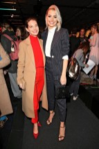 BERLIN, GERMANY - JANUARY 16: Actress Yvonne Catterfeld and Model Lena Gercke during the Marc Cain Fashion Show Berlin Autumn/Winter 2018 at metro station Potsdamer Platz at on January 16, 2018 in Berlin, Germany. (Photo by Gisela Schober/Getty Images for Marc Cain)