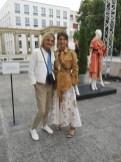 Journalistin und Bloggerin Hedi Grager im Gespräch mit Designerin Dorothee Schumacher (Foto privat)