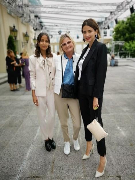 Moderatorin Rabea Schif_Journalistin und Bloggerin Hedi Grager und Model Eva Padberg (Foto privat)
