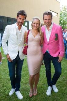 Sommerfest OBEGG - Best of Südsteiermark und LOISIUM - Michael Lameraner, Nina Proll und Adi Weiss (Foto Moni Fellner)
