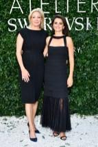 Nadja Swarovski & Penelope Cruz bei der Präsentation der Atelier Swarovski by Penélope Cruz Echtschmuckkollektion (Foto Stephane Feugere)