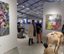 Künstler Alessandro Painsi mit Autor Reinhard A. Sudy auf der Art Miami 2018 (Foto Hedi Grager)