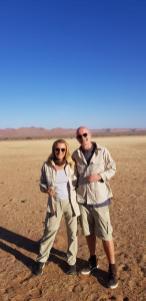 Doris und Gabor Rose, Jones-Fashion, haben eine wundervolle Namibia-Reise hinter sich (Foto privat)