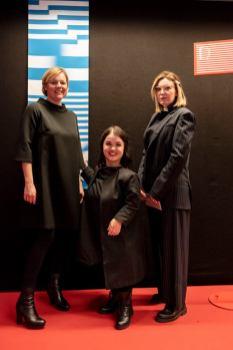 Eröffnung der Diagonale 2019 in der Grazer Helmut List-Halle - Christina Merlini, Kathi Auferbauer und Katharina Schlager(Foto Diagonale/Miriam Raneburger)