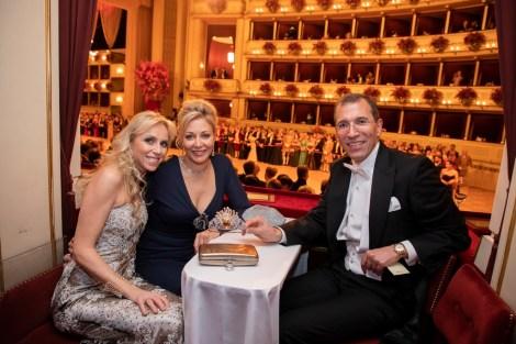Wiener Opernball 2019: Tanja Swarovski, Nadja Swarovski und Christoph Swarovski (Foto Swarovski)