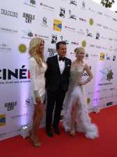 CINÉMOI 'STARS UNITED FOR GOOD' GALA in Cannes - Model Victoria Silvstedt, actor Vincent de Paul and actress Dustin Quick (Photo Hedi Grager)