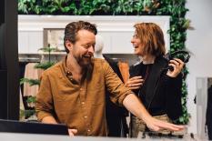 Model Eva Padberg und Eheman Niklas Worgt – DJ Duo Dapayk und Padberg (Foto H&M)