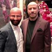 Dieter Ferschinger traf Schauspieler John Travolta im Glock Horse Performance Center. (Foto privat)