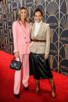 Marc Cain Fashion Show: Scarlett Gartmann und Anna Schuerrle. (Photo by Franziska Krug/Getty Images for Marc Cain)