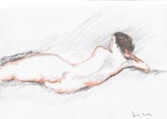 Stan Bert Singer: Sketch of nude (Foto Stan Bert Singer)
