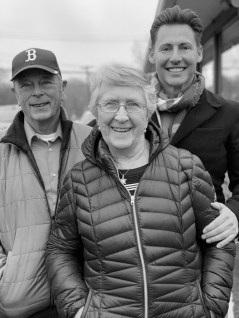 Skypod Founder and CEO Richard Jardine with his Grandparents Bob and Marion Mason. (Photo Skypod)