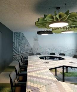 Die international erfolgreiche Designerin Anastasija Lesjak entwickelte eine modulare Büromöbelkollektion für Lande sowie eine Sitzmöbel-Serie und Akustik-Licht-Elemente für BuzziSpace, (Foto links BuzziSpace. (Foto Paul Ott)
