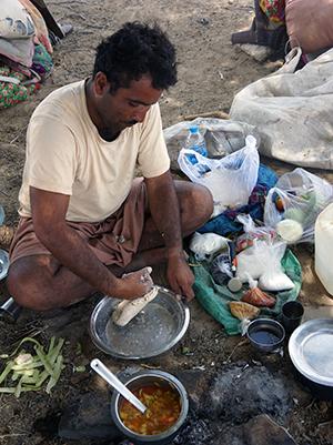 Desert Du Thar - Préparation repas