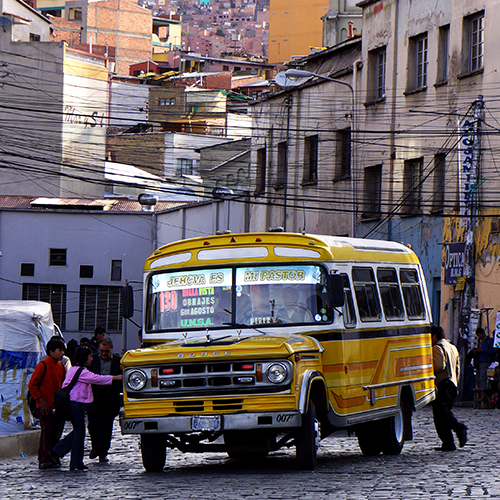 La Paz - Bolivie / Autobus Dodge