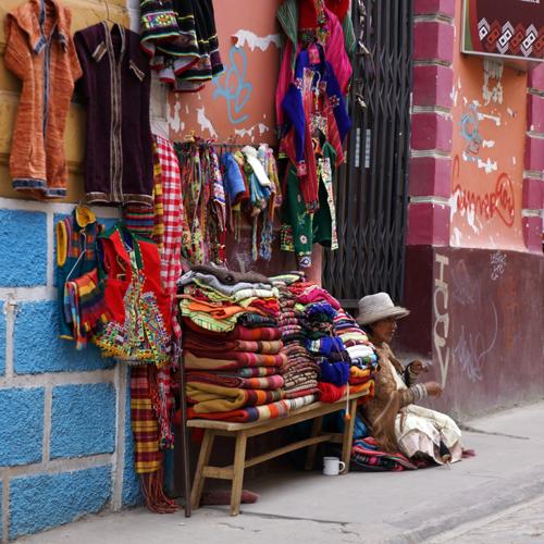 La Paz Bolivie / Rue Sagarnaga