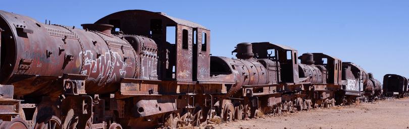 Bolivie - Uyuni / Cimetière de vieux trains