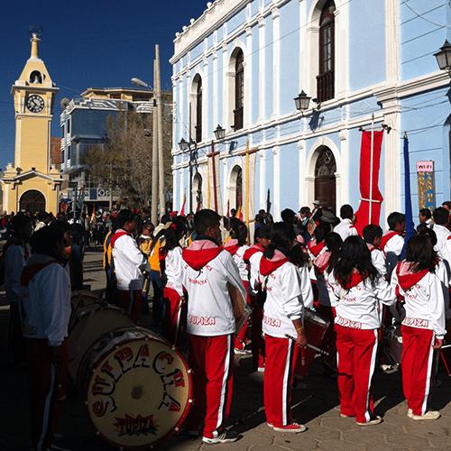 Bolivie - Uyuni / Fanfare municipale