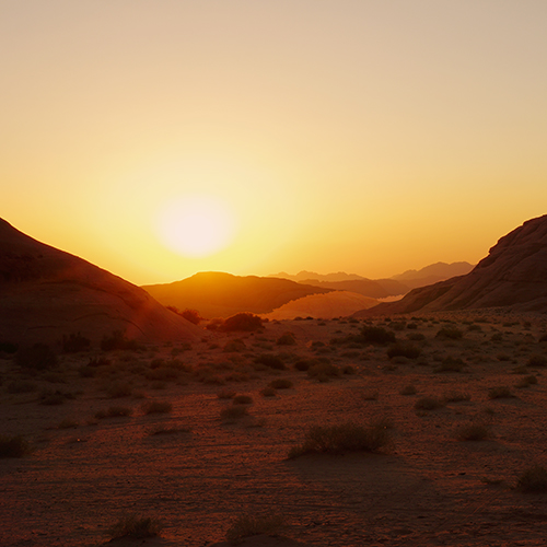Wadi Rum - Coucher de soleil