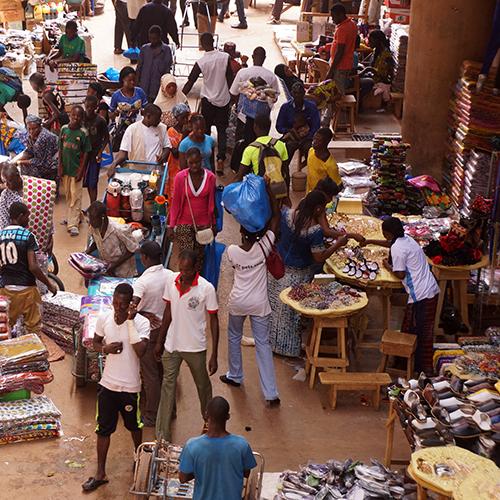 Ouagadougou Grand Marché Rood Wooko