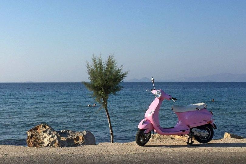 Grèce Kos en scooter