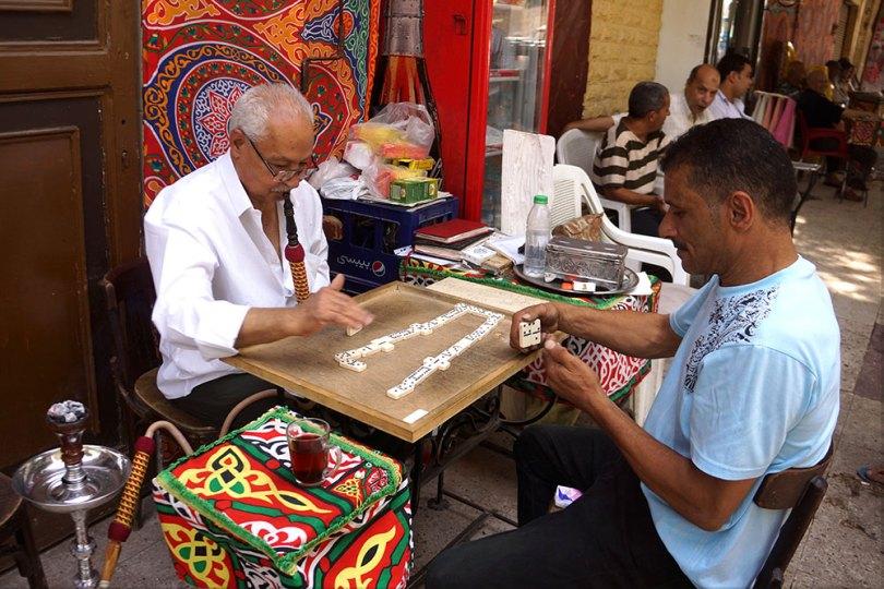 Egypte - Le Caire _ Joueurs de dominos