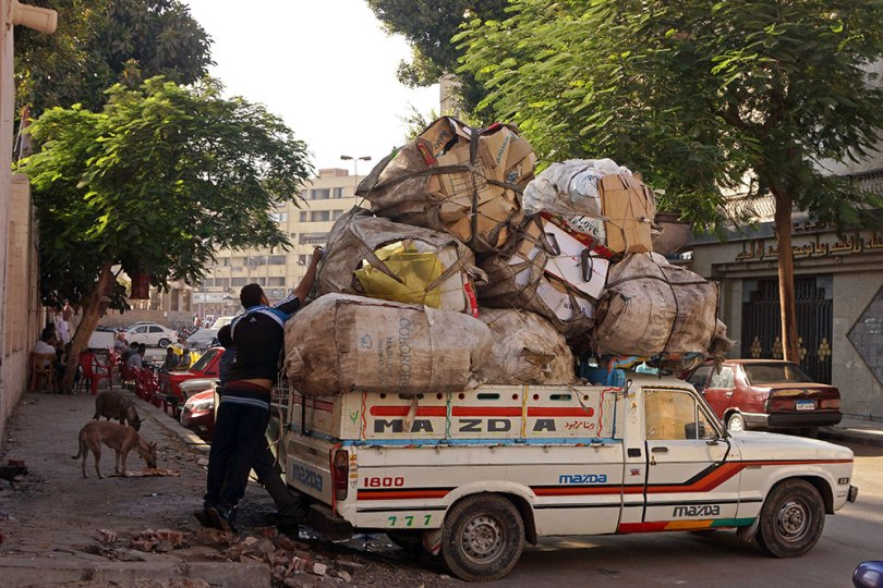 Le Caire - Chiffonniers, collecte