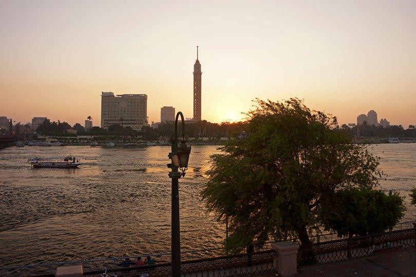 Le Caire - Nil au soleil couchant