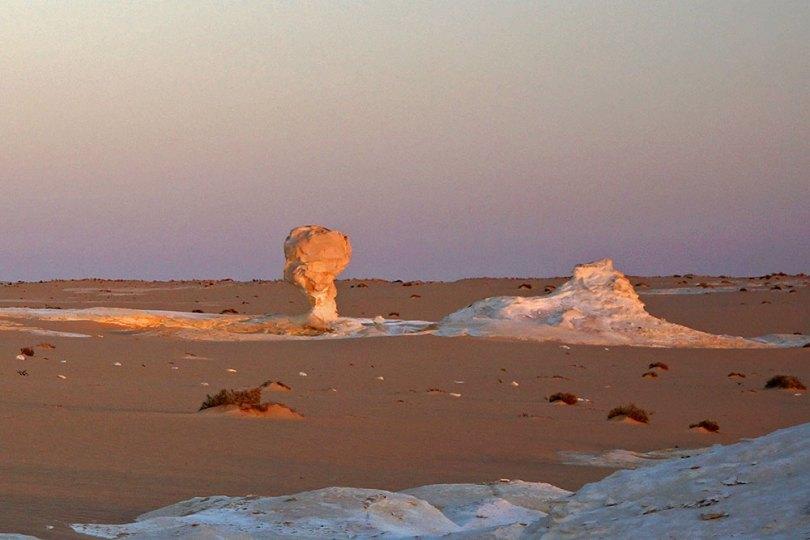 Egypte - Désert blanc à l'aube